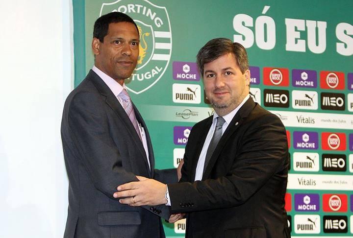 CEO NL Tasselim Suahele com Presidente Sporting